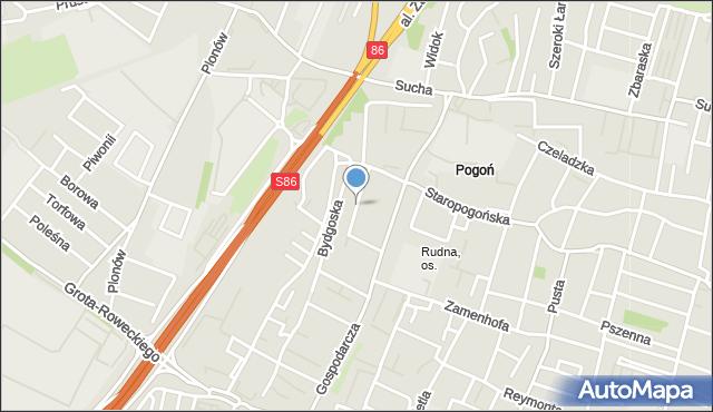 Sosnowiec, Legnicka, mapa Sosnowca