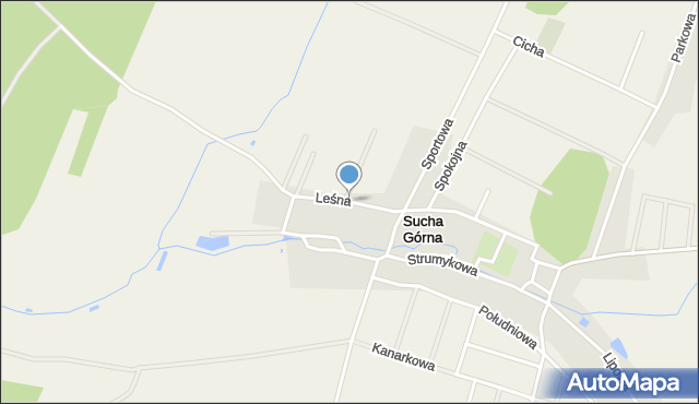 Sucha Górna, Leśna, mapa Sucha Górna