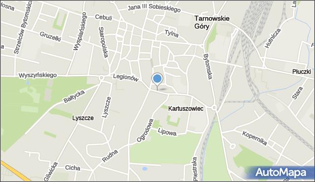 Tarnowskie Góry, Legionów, mapa Tarnowskie Góry