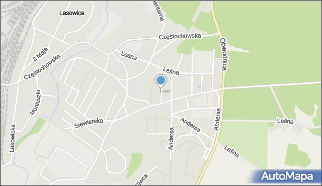 Tarnowskie Góry, Letnia, mapa Tarnowskie Góry