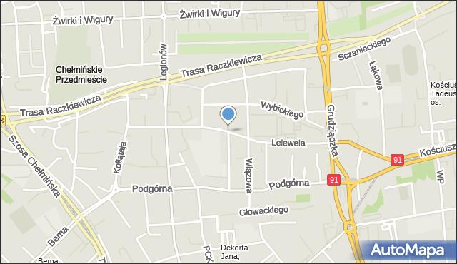 Toruń, Lelewela Joachima, mapa Torunia