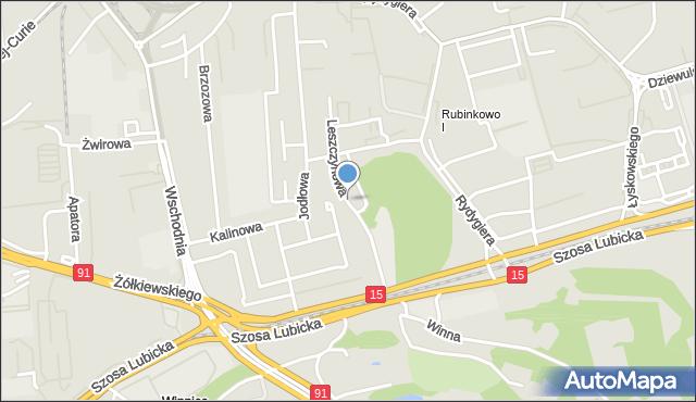 Toruń, Leszczynowa, mapa Torunia