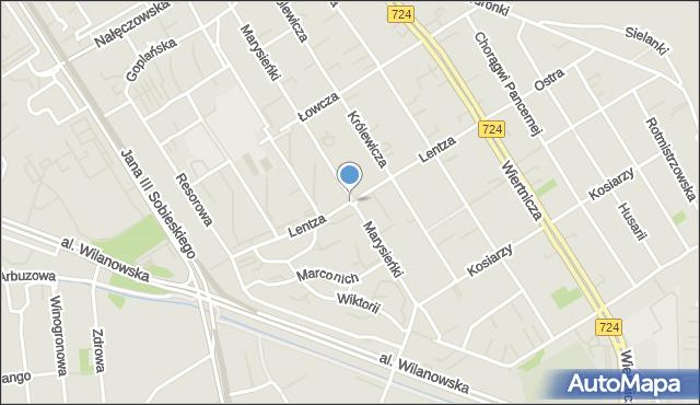 Warszawa, Lentza Stanisława, mapa Warszawy