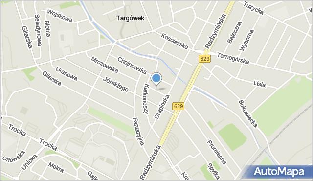 Warszawa, Leśniewska, mapa Warszawy