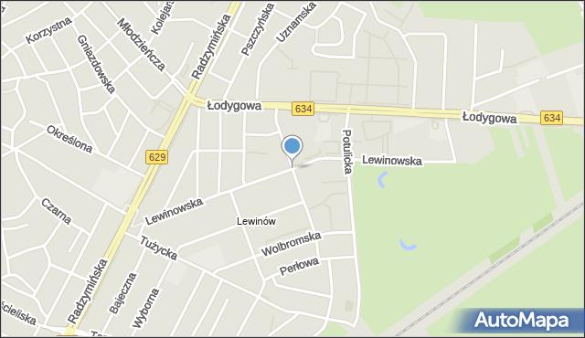 Warszawa, Lewinowska, mapa Warszawy