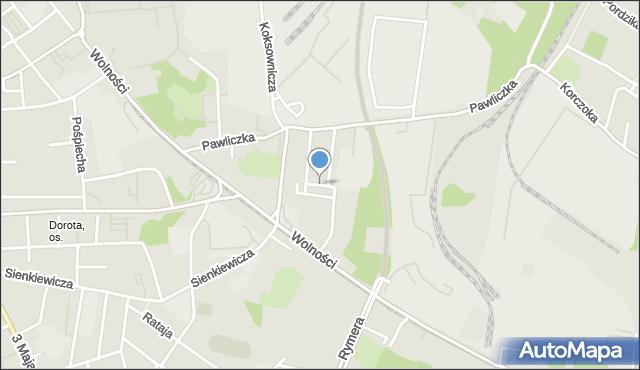 Zabrze, Lecha, mapa Zabrza