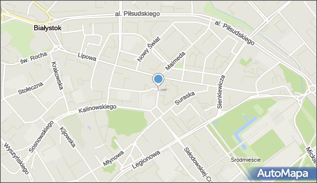 Białystok, Liniarskiego Władysława, mapa Białegostoku