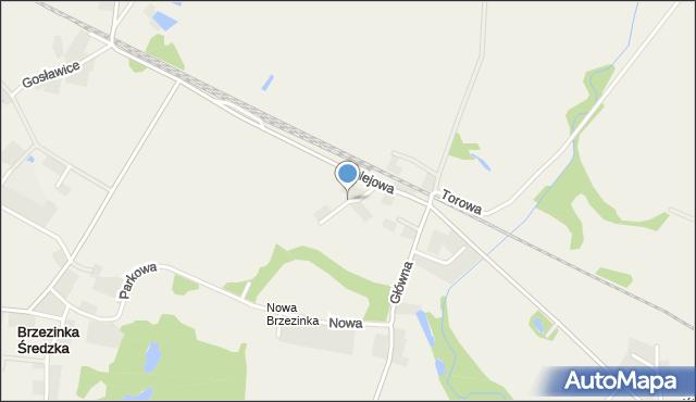 Brzezinka Średzka, Lipowa, mapa Brzezinka Średzka