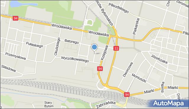 Bytom, Ligęzy Józefa, mapa Bytomia