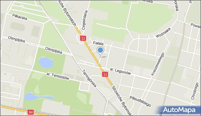 Bytom, Ligonia Juliusza, mapa Bytomia