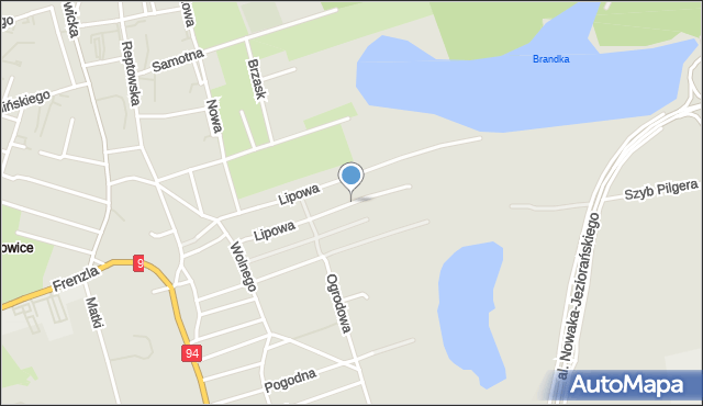 Bytom, Lipowa, mapa Bytomia