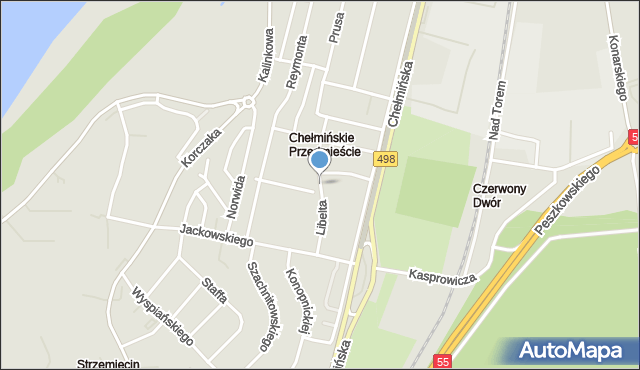 Grudziądz, Libelta Karola, mapa Grudziądza