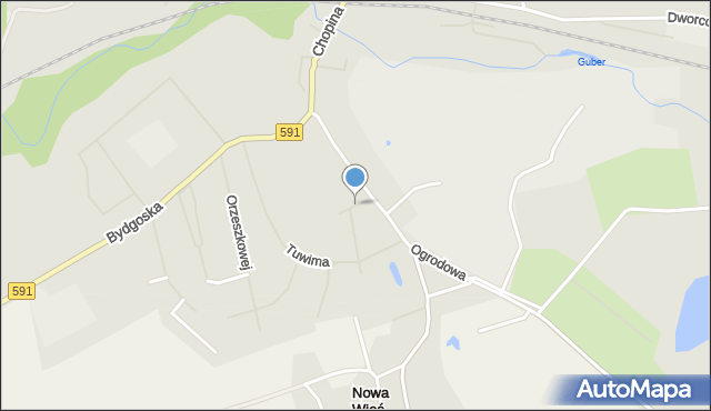 Kętrzyn, Linki Bogumiła, mapa Kętrzyn