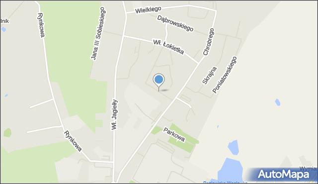 Kętrzyn, Lipowa, mapa Kętrzyn
