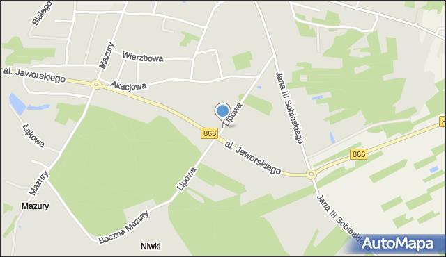 Lubaczów, Lipowa, mapa Lubaczów