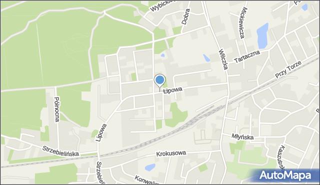 Luzino, Lipowa, mapa Luzino