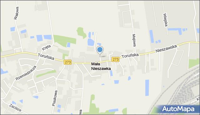 Mała Nieszawka, Lipowa, mapa Mała Nieszawka