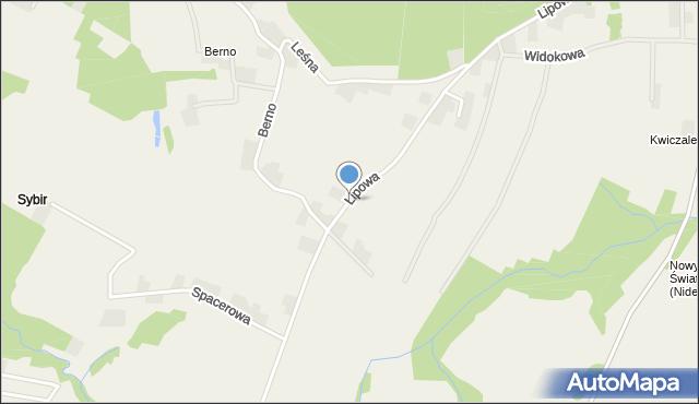 Nidek, Lipowa, mapa Nidek