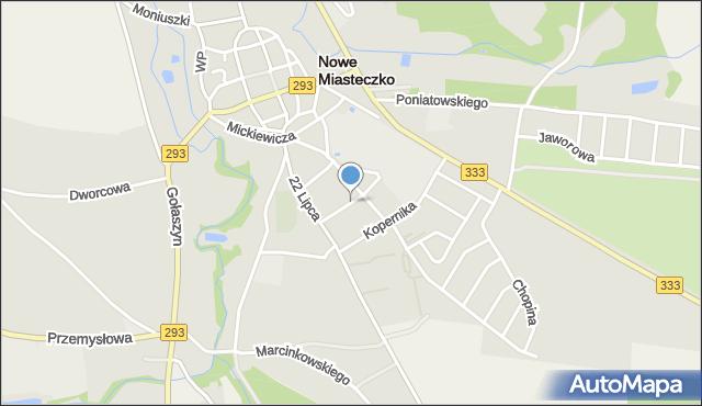 Nowe Miasteczko, Lipowa, mapa Nowe Miasteczko