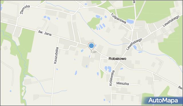 Robakowo gmina Luzino, Lipowa, mapa Robakowo gmina Luzino