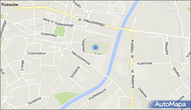 Rzeszów, Ligęzy Spytka, mapa Rzeszów