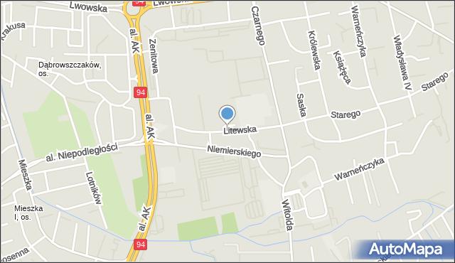 Rzeszów, Litewska, mapa Rzeszów