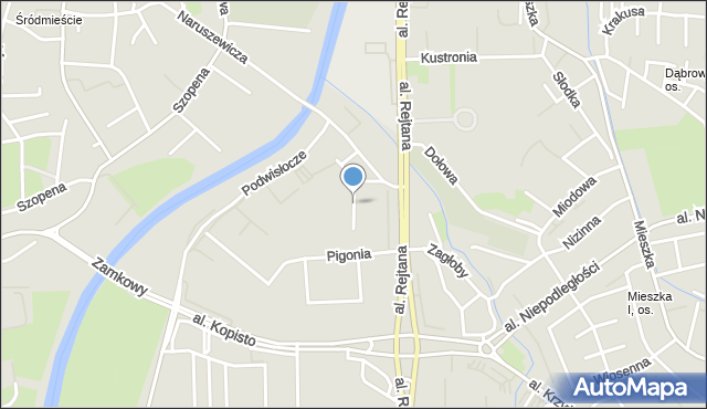Rzeszów, Litawora, mapa Rzeszów