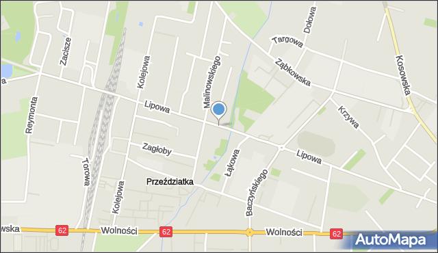 Sokołów Podlaski, Lipowa, mapa Sokołów Podlaski