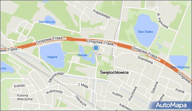 Świętochłowice, Lipińska, mapa Świętochłowice