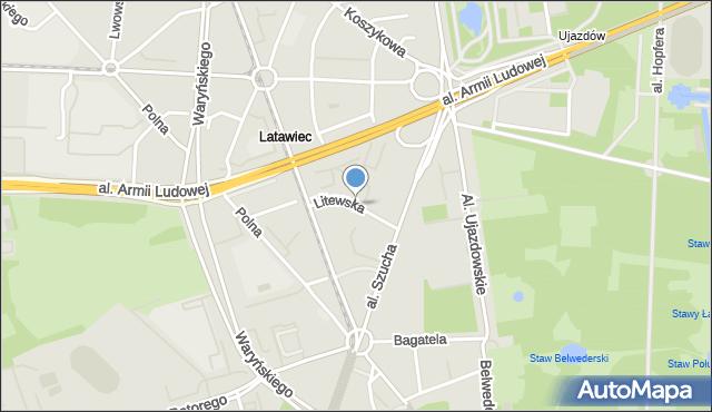 Warszawa, Litewska, mapa Warszawy
