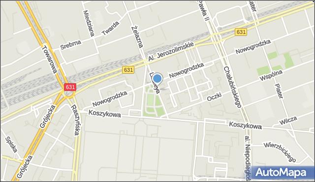 Warszawa, Lindleya Williama Heerleina, mapa Warszawy