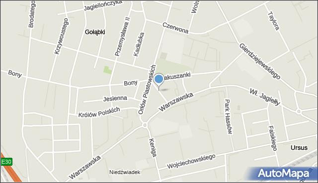 Warszawa, Listopadowa, mapa Warszawy