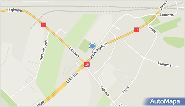Grudziądz, Lotnicza, mapa Grudziądza