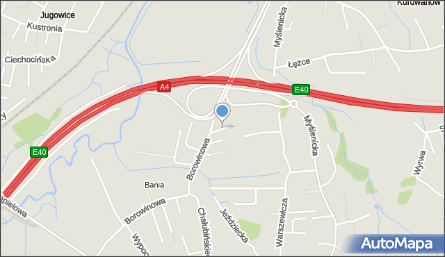 Kraków, Łobodowskiego Józefa, mapa Krakowa