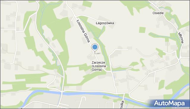 Łososina Górna, Łososina Górna, mapa Łososina Górna