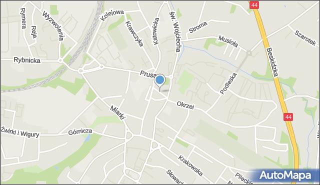 Mikołów, Lompy Józefa, mapa Mikołów
