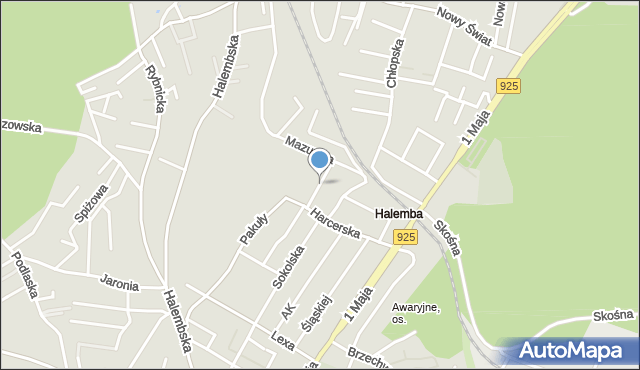 Ruda Śląska, Łowicka, mapa Rudy Śląskiej