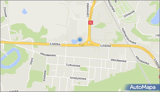 Toruń, Łódzka, mapa Torunia