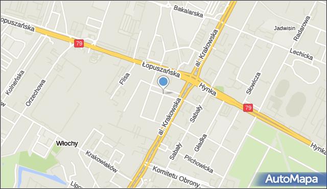 Warszawa, Łobeska, mapa Warszawy