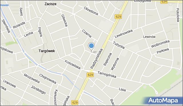 Warszawa, Lotnika, mapa Warszawy