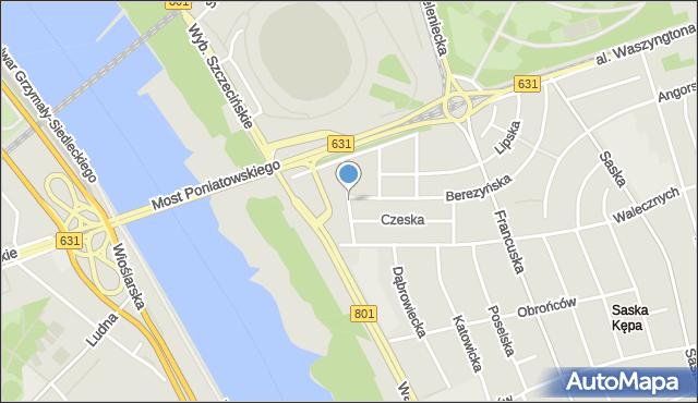 Warszawa, Łotewska, mapa Warszawy