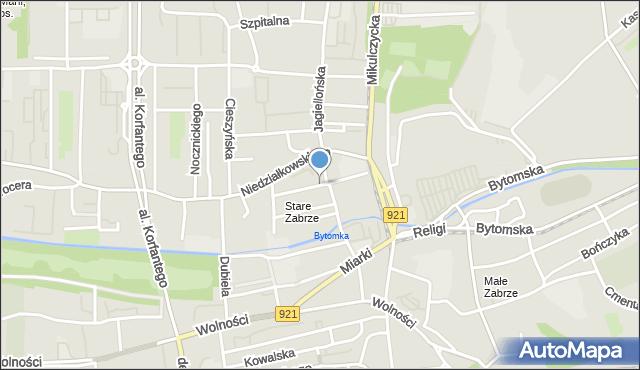 Zabrze, Londzina Józefa, ks., mapa Zabrza