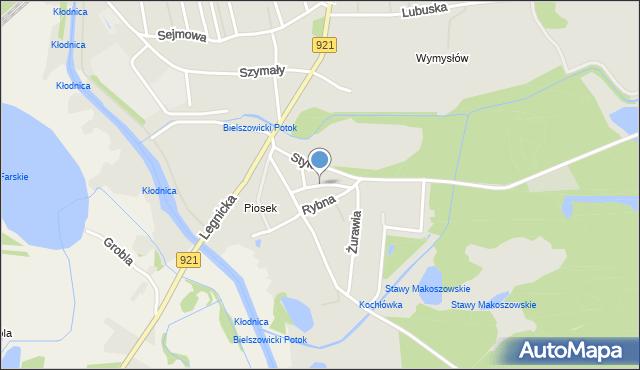 Zabrze, Lotnicza, mapa Zabrza