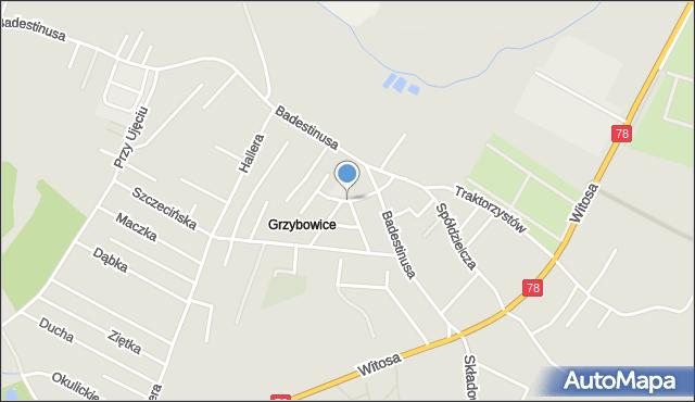 Zabrze, Łowicka, mapa Zabrza