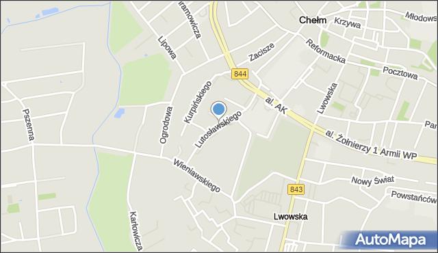 Chełm, Lutosławskiego Witolda, mapa Chełma