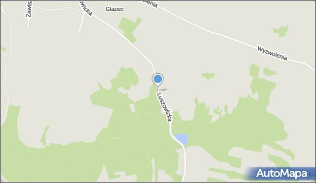 Jaworzno, Luszowicka, mapa Jaworzno