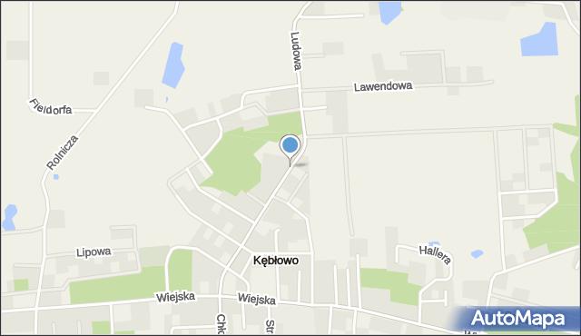 Kębłowo gmina Luzino, Ludowa, mapa Kębłowo gmina Luzino