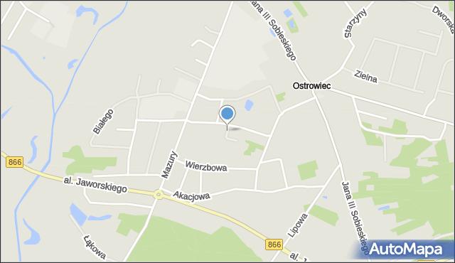 Lubaczów, Łukasiewicza Piotra, mapa Lubaczów