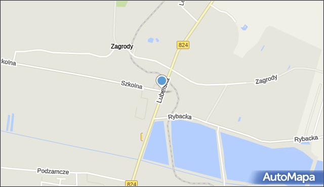 Opole Lubelskie, Lubelska, mapa Opole Lubelskie