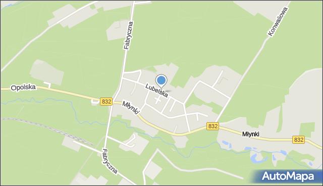 Poniatowa powiat opolski, Lubelska, mapa Poniatowa powiat opolski